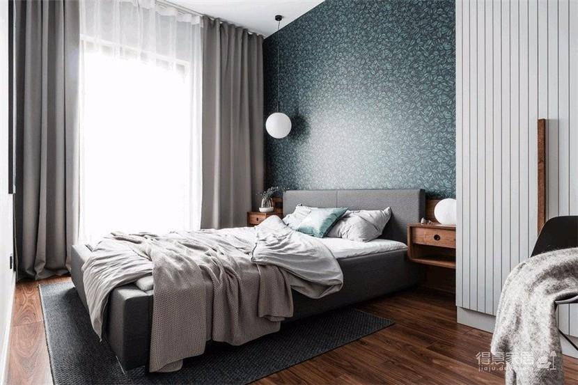 110平灰蓝空间,舒适而精致装修效果图_得意家居装修