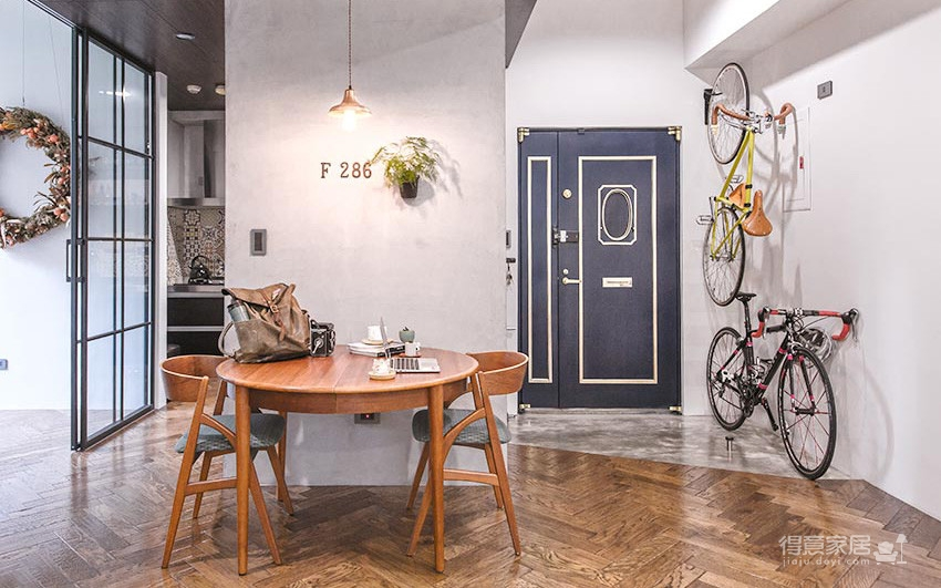 58平小居室,化身颜值收纳兼备的工业风图_1