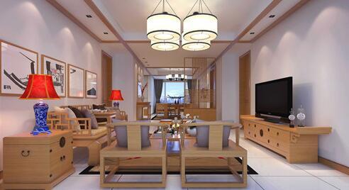吊頂做法,很適合大空間的客廳,建議材料應選用優質軟質木材,如松木